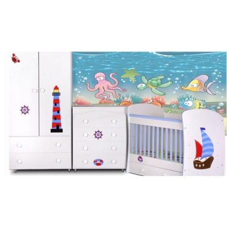 d3deacad0b5 Ολοκληρωμένο Σετ Βρεφικό Παιδικό Δωμάτιο SAILOR