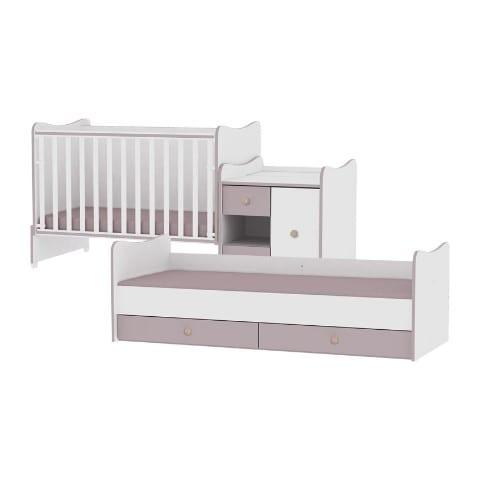 26084bf1439 Lorelli Πολυμορφικό Κρεβάτι Κούνια MINI MAX WHITE/COFFEE 197/83/108 ...